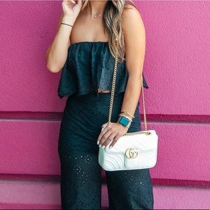 Eyelet lace two piece